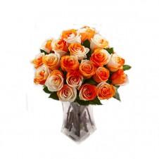 Promo Orange White in a Bouquet