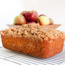 apple crumble loaf by purple oven