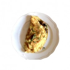 Omelette with wild mushrooms and emmental cheese by Bizu