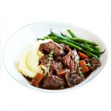 USDA prime beef cheeks ala Bourguignon by Bizu