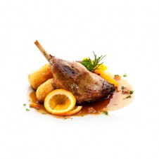 duck leg confit with sauce l'orange by bizu