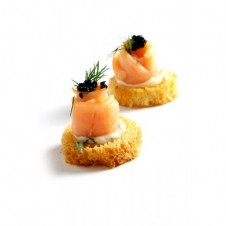 Smoked Salmon and DIll Croutes by Bizu