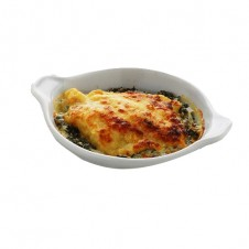 Sole Florentine with spinach and mushroom by Bizu