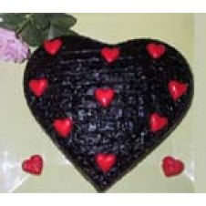 Heart Choco Cake by Wilma's Yummy Cake