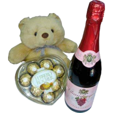 Small Bear With Ferrero and Champagne Soda