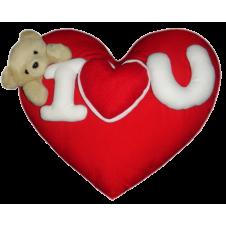 Wesley Heart Shape Pillow by Bear Huggs