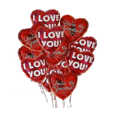 6 pcs Heart Shaped Balloons