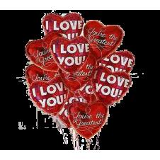 6 pcs Heart Shaped Balloons