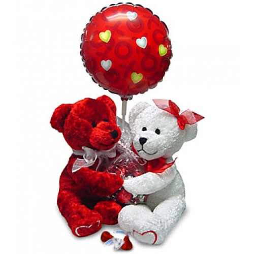 Twin Bear with Balloon