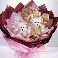 Mini Bear in a Bouquet