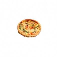 Salmon and asparagus deep dish Quiche by Bizu