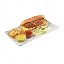 German sausage sandwich by Contis