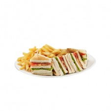 Hearty club sandwich by Contis