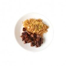 Kimchi rice with beef tapa by Contis
