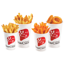Fries Potatoes and Onion Rings by Bonchon
