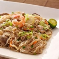 Pancit Lumpia and Rice