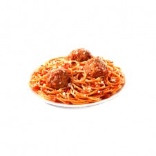 spaghetti with meatballs by sugarhouse