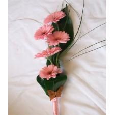 5 Stems Pink Gerbera in a Bouquet