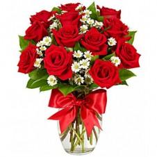 Luxury Roses in a Vase