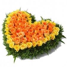 60 Yellow and Orange Roses