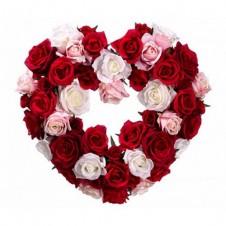 4 Dozen Heart Shaped Roses