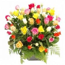 48 Assorted Roses Arrangement