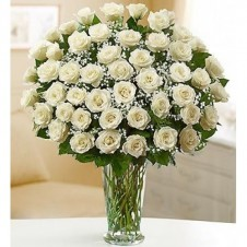 48 Long Stem White Roses in a Buoquet