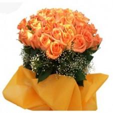 60 Orange Roses Bouquet