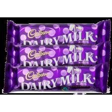Cadbury Dairy Milk. 3 Bars. 30g and 15g Each