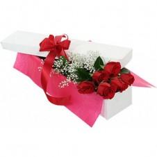 6 Long Stem Roses in Box