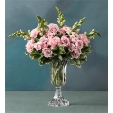 Pink Carnations and Roses in a Vase