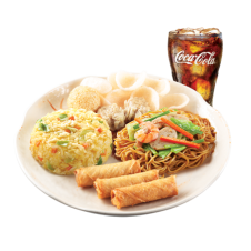 Shanghai Lauriat with Drink by Chowking