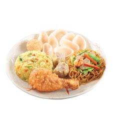 Chinese Style Fried Chicken Lauriat by Chowking