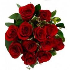 12 Long Stem Roses Bouquet
