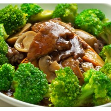 Sliced Beef with Brocolli by Super Bowl