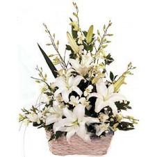 Large Elegant Display of White Flowers