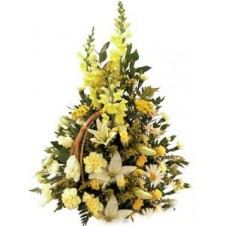 Handsome One Sided Arrangement of Yellow Tones
