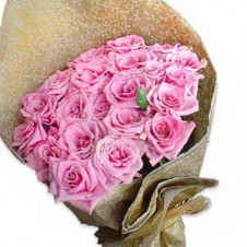 2 dozen Pink Holland Roses Bouquet