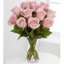 Pink Holland Roses in a Vase
