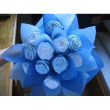 12 pcs. Imported Holland Blue Roses in a Bouquet