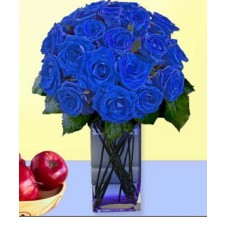 24 pcs. Imported Holland Blue Roses* in a Vase