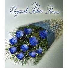 36 pcs. Imported Holland Blue Roses* in a Bouquet 1