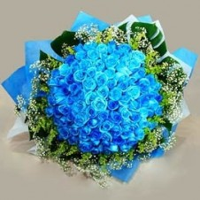 60 pcs. Imported Holland Blue Roses* in a Bouquet