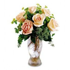 Poem of Blooms in a Glass Vase