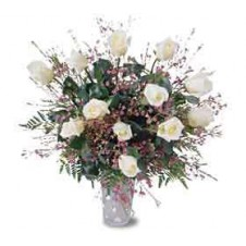 Aim High, With this Beautiful Dozen Roses in a Vase