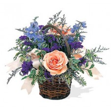 A Pretty Flower Basket Shown As Picture
