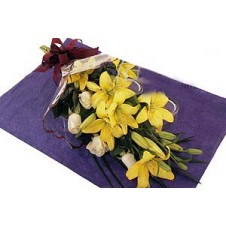 A Simple, Attractive Gift of Special Flowers in a Bouquet