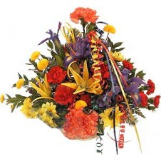 Colorful Arrangement in a Basket