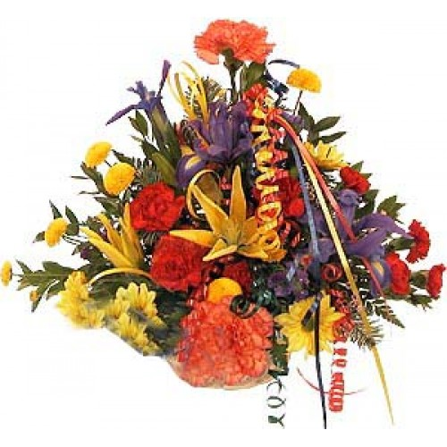 Colorful Arrangement in a Basket