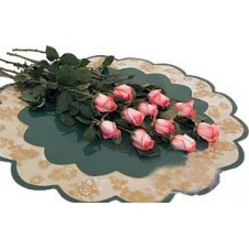 Attractive Display of 12 Pink, Long-Stemmed, Wrapped Roses